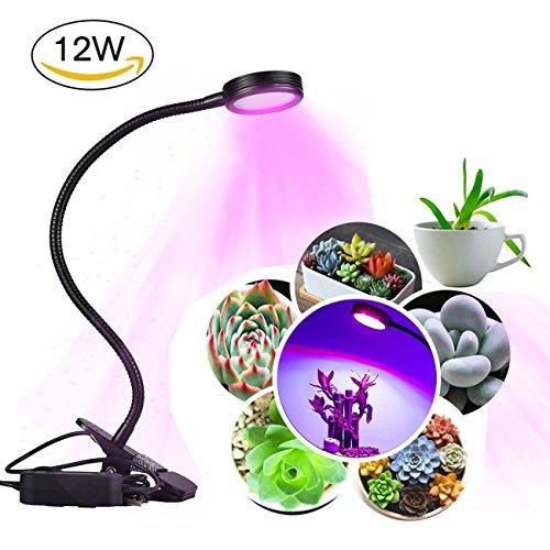 HUABEI 10W Lampada per piante LED, 2 Livello dimmerabili Coltiva la Luce per Idroponica Giardino Serra Lampada di Crescita per piante & Fiore