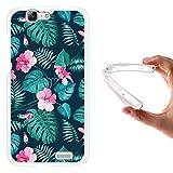 WoowCase Huawei Ascend G7 Hülle, Handyhülle Silikon für [ Huawei Ascend G7 ] Tropische Blumen 2 Handytasche Handy Cover Case Schutzhülle Flexible TPU - Transparent