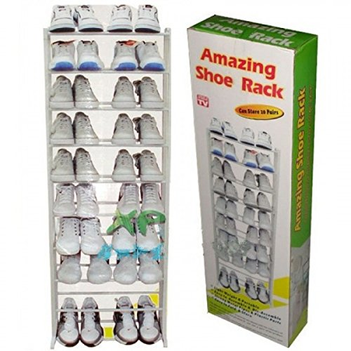 Petrice Portable Shoe Rack With 10 Layers (Holds Approx 30 Pairs)