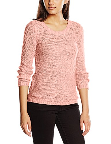 only-onlgeena-xo-l-s-pullover-knt-noos-pull-femme-rose-peachy-keen-38-taille-fabricant-medium