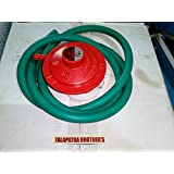 Shakumbhri Creations Cast Iron With Plastic LPG Pipe And Gas Regulator For Cylinder, Normal Size (Red)