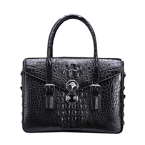 LAIDAYE Männer Handtasche Aktenkoffer Umhängetasche Business Lässige Tasche Große Kapazität Skew Pack Black