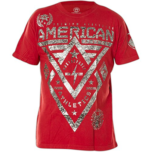 American Fighter by Affliction T-Shirt Alaska Rot, XL (Fighter T-shirt Rot American)