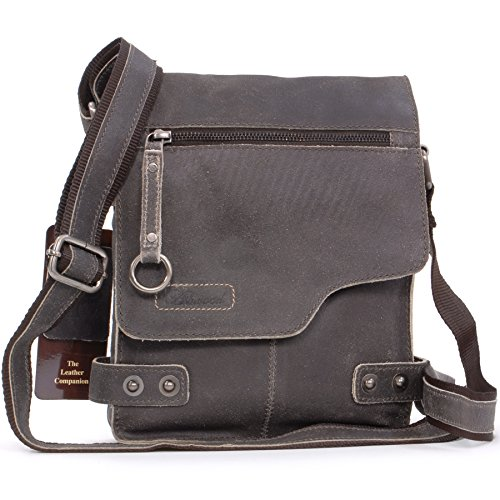 Borsa Messenger Ashwood in pelle - 8351 - Marrone