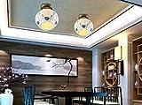 YWJCR gemütliche Schlafzimmer aus Kupfer im europäischen Garten-Lobby-Stil Starten Sie eine Studie Yeelight Cycle LED Ceiling