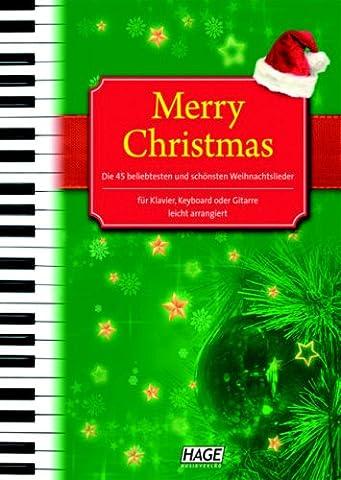 Merry Christmas mit Midifiles + Styles: Songbook mit 45 Titeln für Klavier, Keyboard oder Gitarre (Glenn Miller-jingle Bells Weihnachten)