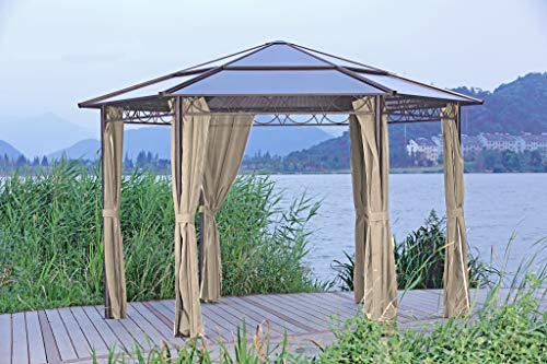 Alu Pavillon 6-eckig 2m Gartenzelt Partyzelt Garten Zelt Festzelt Überdachung