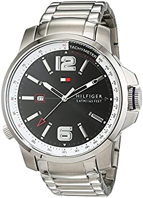 Caballeros-Reloj analógico Deportivo Sofisticado Tommy Hilfiger de Acero Inoxidable de Cuarzo 1791222