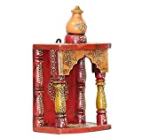 #4: APKAMART Handcrafted Wooden Temple for Pooja - 10 Inch - Handicraft Hanging Temple for Puja, Home Decor, Room Decor and Gifts