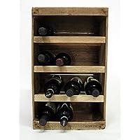 Porta botella de madera//vintage//DIY//upcycling//reciclaje creativo//fruta, vino