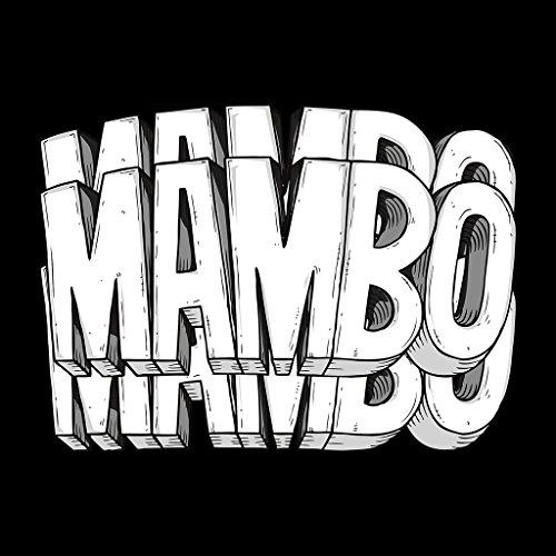 Triple Mambo White Text Women's Sweatshirt Black