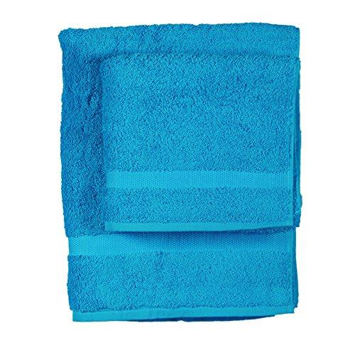 Asciugamano e ospite COGAL in spugna 650 grammi colore TURCHESE 032
