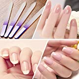 4PCS Crystal Glass Nail Files Set Pedicure File Manicure Stick for Nail Beauty Maniküre Schleif- / Polierblöcke Nagelpflege Nagel-Werkzeug Nail Polish Tool Beautiful Nails Cleaner Tool Molie