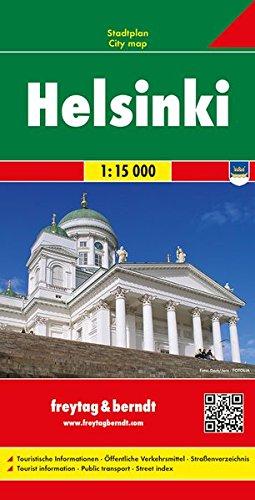Helsinki, Stadtplan 1:15.000, freytag & berndt Stadtpläne