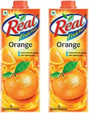 Real Orange Juice, 1L (Pack of 2)