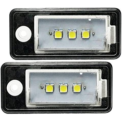 Top LED placa de licencia Lights tüv-approved para Audi A3 8P, A4 B6 B7 A6 4 F SMD 5050 super blanco brillante con placa de licencia luz