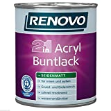 5 Liter RENOVO Acryl Buntlack seidenmatt WEISS