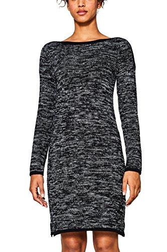 edc by ESPRIT Damen Kleid 107CC1E031 Schwarz (Black 001), Medium