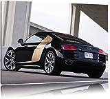 Audi R8 sur toile, format XXL support en bois, Leinwand Format:60x40 cm
