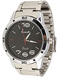 The Smokiee Swatch Style Chromo Watch Band Silver Tone Stainless Steel-0711 Analog-Digital Watch - For Men