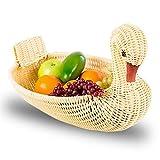 TOOGOO Umweltfreundliche Gewobener Korb Aufbewahrungskorb Nachahmung Rattan Woven Basket Tierform Ablagekorb Display-Korb (28x18x18 cm)