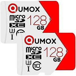 QUMOX 2x128GO Extreme Cartes mémoire Micro SDXC Class 10 UHS-I 128Go