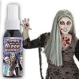Fluido ematico spray effetto speciale zombie Sangue finto halloween rosso scuro Sangue falso morto vivente fake blood per festa di terrore Liquido sanguigno artificiale trucco di scena Liquido rosso spray da mostro