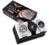 #4: Vills Laurrens Analogue Multicolor Dial Combo Of 3 Men's & Boy's Watch - Vl-1111-1112-1113