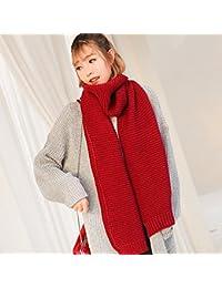 Femme automne hiver au chaud de longues écharpes tricotées des couples  couleur uni long col allongé 210cm  … 0b6cd331c06