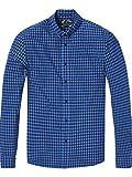 Scotch & Soda Herren Freizeithemd Classic BB Check Shirt, Blau (Combo C 0219), X-Large