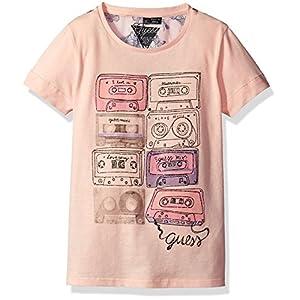 Guess J73I14K5QH0, T-Shirt Bambina, Rosa (Pink Cadillac/Rouge), 164 (Taglia Produttore:14)