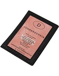 Cuero tarjetero para documento de identidad en cuero de beccero o cuero de búfalo MJ-Design-Germany en diferentes colores