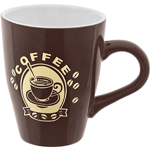 Promobo - Mug Tasse A Café 300ml Design Pub Vintage Chic Coffee Marron