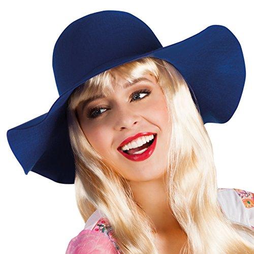 Generique - Cappello Floscio Blu Donna
