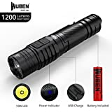 LED Taschenlampe 1200 Lumen USB Rechargeable LED Tactical Taschenlampen CREE