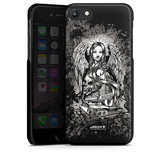 Apple iPhone X Silikon Hülle Case Schutzhülle Joker - Lost Angel Engel Totenkopf Hard Case schwarz
