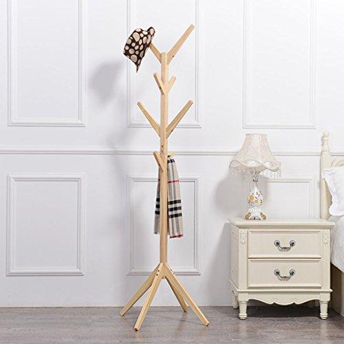LYM Stehender Huthänger Mantel Hut Rack Holz Stand, Hall Baum mit 8 Haken Display Stand Einfache Montage von Regalen ( Farbe : C , größe : 175*45CM )
