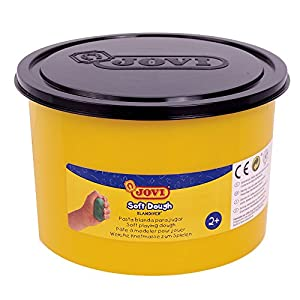 Jovi - Soft Dough Blandiver, Bote de 460 g, Color Negro (46010)