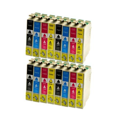 12 Tintenpatronen alternativ zu Epson T1811 T1812 T1813 T1814-3x Schwarz je 18ml, 3x je C,M,Y je 14ml - Druckerpatronen für Epson Expression Home XP30 XP102 XP202 XP205 XP302 XP305 XP402 XP405