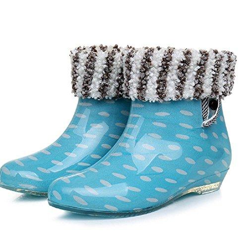 Frau Erwachsener Schlupf regen Stiefel wave of blue + cotton
