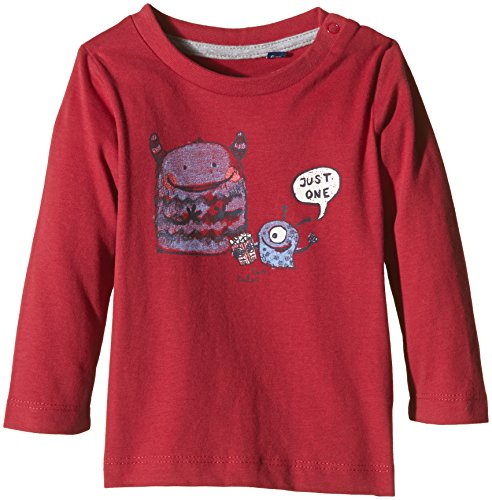 TOM TAILOR Kids Baby - Jungen T-Shirt peached monster print 510, Gr. 86, Rot (Scooter red 4543) - 510 Print