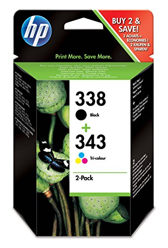 Hp sd449ee 338 + 343 combo-pack inkjet / getto d'inchiostro cartuccia originale [importato da unione europea]