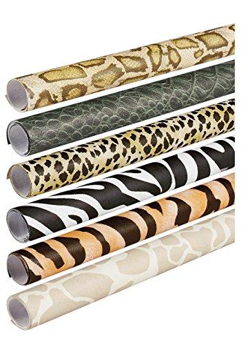 Pacon Dekopapier Safari Prints Art Papier, Empfangsbereich by Geschenkpapierrolle 244cm Rollen, 6verschiedene Designs (56920)