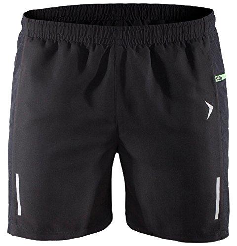 OUTHORN Shorts Pantaloncini da uomo Sport Pantaloni Bermuda Fitness Pantaloni interno Mesh Training Pantaloni per il tempo libero pantaloni Jogging skmf600() nero