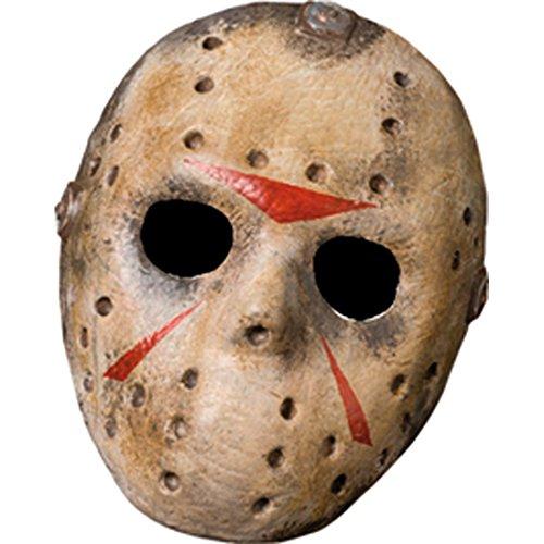 Jason Voorhees Maske originalgetreue Hockeymaske Vinylmaske Serienmöder Freitag der 13. Lizenzware Horrormaske Serienmörder Gruselmaske Serienkiller