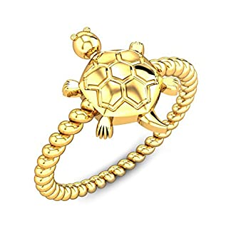 Candere By Kalyan Jewellers 22k (916) Yellow Gold Oyster Shell Tortoise Ring