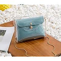 YANSEN Damen Einschulter Tasche,Mutter Und Sohn Transparentes Single Paket Hellen, blau, L