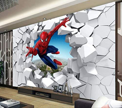 Spiderman Tapete Custom 3d Foto Tapete Super Hero Wandbild Jungen Schlafzimmer Wohnzimmer Kindergarten Schule Designer Zimmer Dekor Breite350cm * Höhe250cm pro
