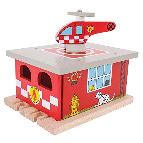 Bigjigs Rail Feuerwehr Gerätehaus