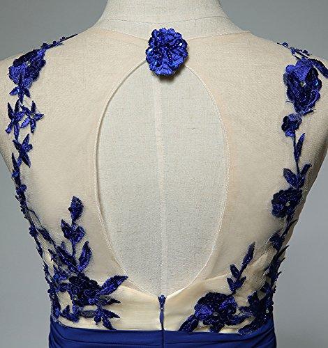 Molly Femmes Dentelle Élégante Paillettes Robes De Soirée Robes Formelles Sombre Bleu